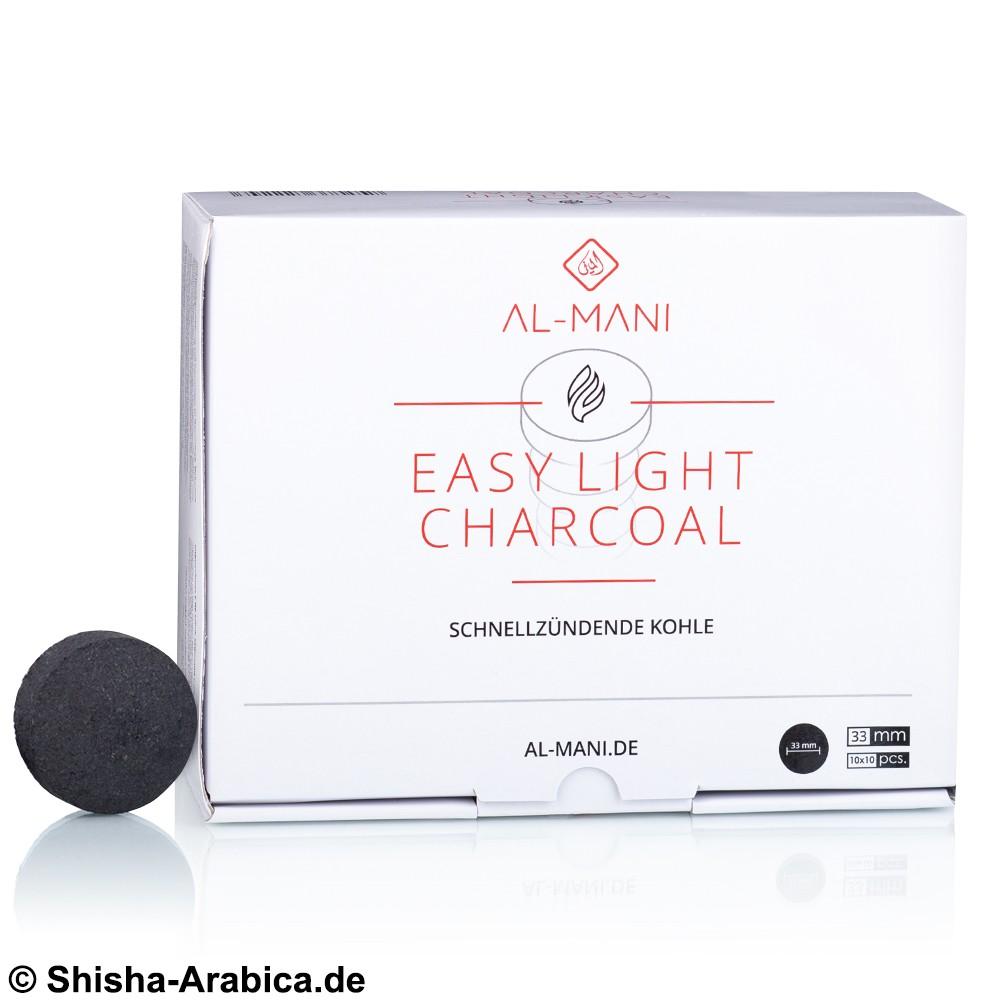 Al-Mani Selbstzünderkohle 33mm 100pcs
